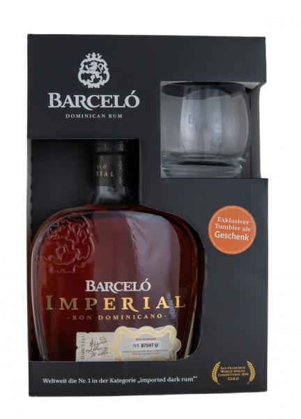 Ron Barcelo Rum Imperial + Tumbler - 0,7L 38% vol