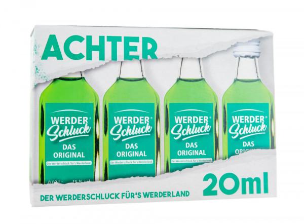 Paket [8 x 0,02L] Werderschluck Waldmeister-Likör - 0,16L 15% vol