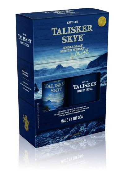 Talisker Skye Single Malt Scotch Whisky + Flachmann - 0,7L 45,8% vol