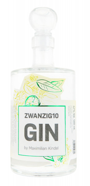 Zwanzig10 Gin by Maximilian Kindel London Dry Gin - 0,5L 42% vol