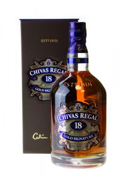 Chivas Regal 18 Jahre Gold Signature Blended Scotch Whisky - 1 Liter 40% vol