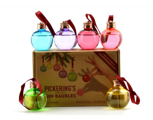 Pickerings Gin Baubles Weihnachtskugeln - 0,3L 42% vol