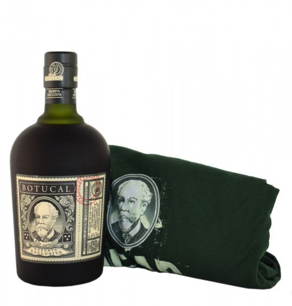 Set: Botucal T-Shirt Gr. XL + Botucal Rum Reserva Exclusiva - 0,7L 40% vol