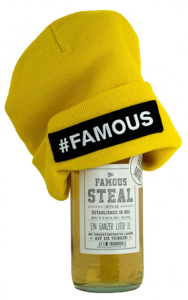 Set: Famous Steal 1L + Gelbe Mütze - 1 Liter 18% vol