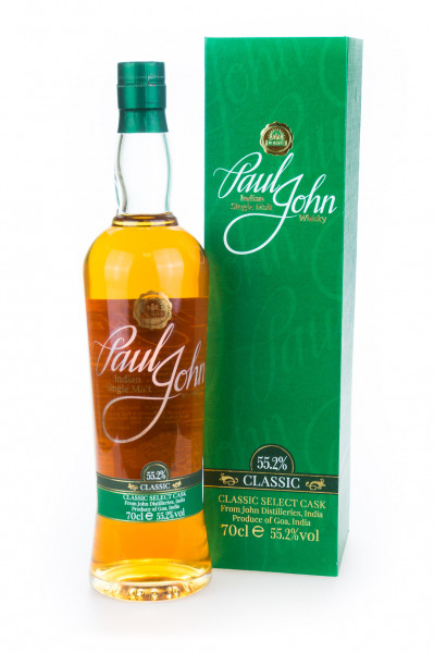 Paul John Classic Select Cask Indian Single Malt Whisky - 0,7L 55,2% vol