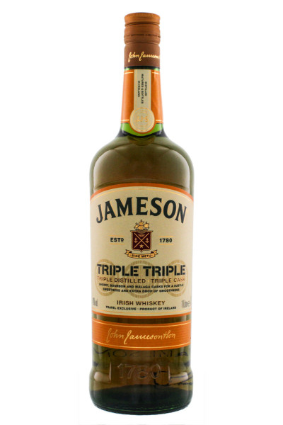 Jameson Triple Triple Irish Whiskey - 1 Liter 40% vol