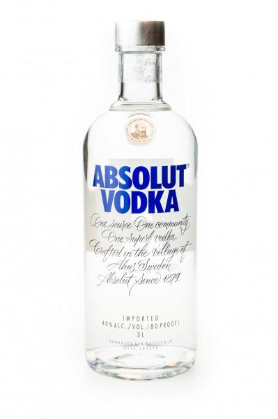 Absolut Vodka - 3L 40% vol