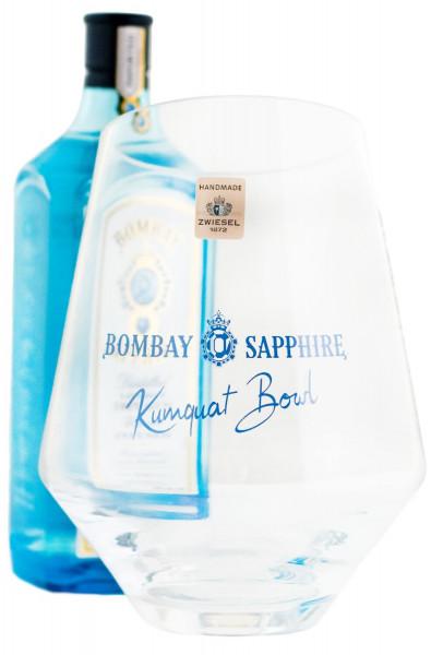 Set: Bombay Sapphire 40% (1L) mit Bombay Kumquat Bowl - 1 Liter 40% vol