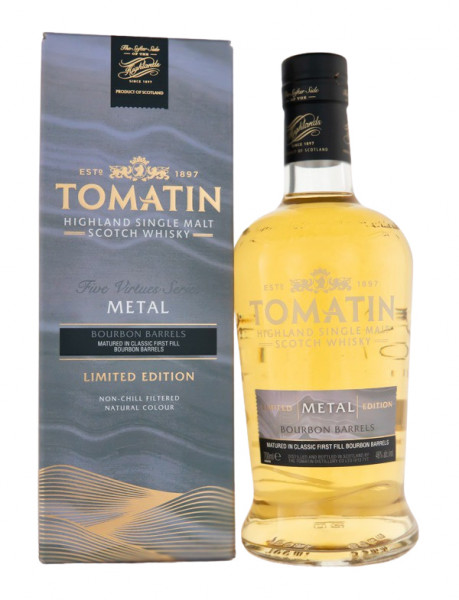 Tomatin Virtues Metal Highland Single Malt Scotch Whisky - 0,7L 46% vol