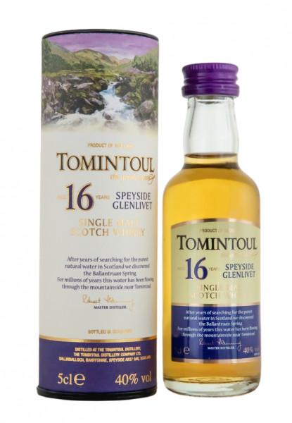 Tomintoul 16 Jahre Single Malt Scotch Whisky Miniatur - 0,05L 40% vol