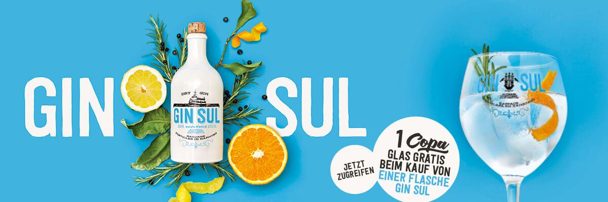 Gin Sul Dry Gin + Premium Copa Glas (0,5L)