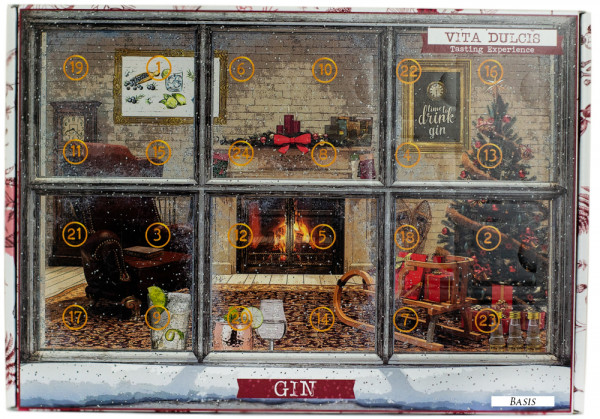 Gin Adventskalender Tasting Basis Version 3 - 0,48L 42,42% vol