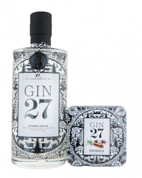 Gin 27 Premium Appenzeller Dry Gin in Geschenkverpackung - 0,7L 43% vol