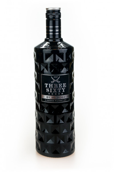 Three Sixty Vodka Black 42 Diamond - 1 Liter 42% vol