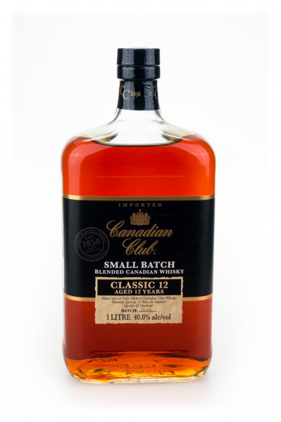 Canadian Club 12 Jahre Small Batch Blended Canadian Whisky - 1 Liter 40% vol