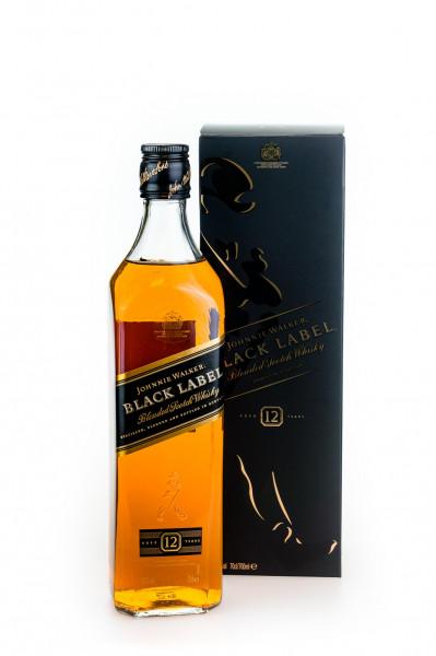 Johnnie Walker Black Label 12 Jahre Blended Scotch Whisky - 0,7L 40% vol