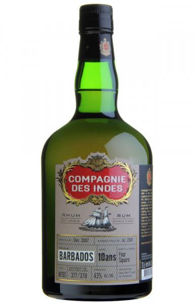 Compagnie des Indes Barbados 10 Jahre Rum - 0,7L 43% vol