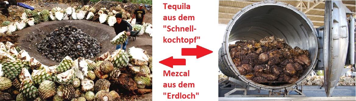 Produktion Mezcal und Tequila