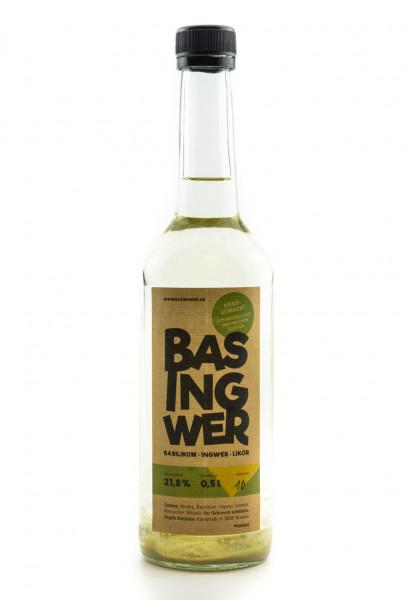 Basingwer Basilikum Ingwer Likör - 0,5L 21,8% vol