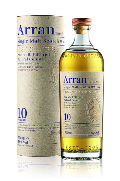 Arran 10 Jahre Single Malt Scotch Whisky - 0,7L 46% vol