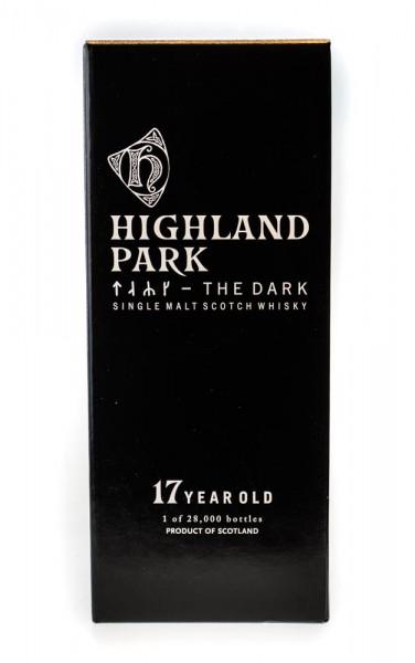 Highland Park The Dark 17 Jahre Single Malt Scotch Whisky - 0,7L 52,9% vol