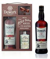 Dewars 12 Jahre Blended Scotch Whisky Geschenkverpackung mit Wasserflasche - 0,7L 40% vol
