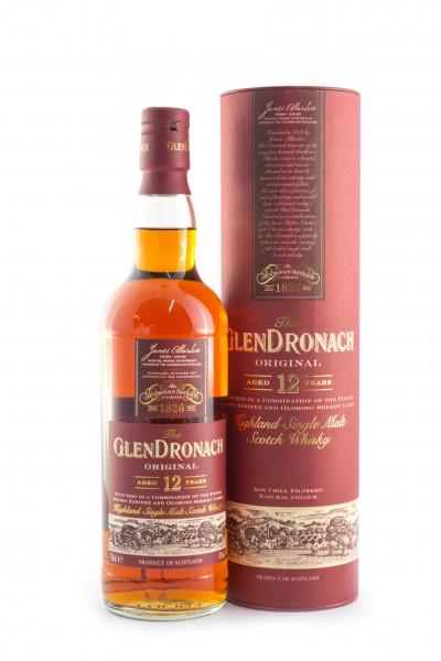 Glendronach 12 YO, Original Single Malt Whisky Scotch Whisky - 43% vol - (0,7L)