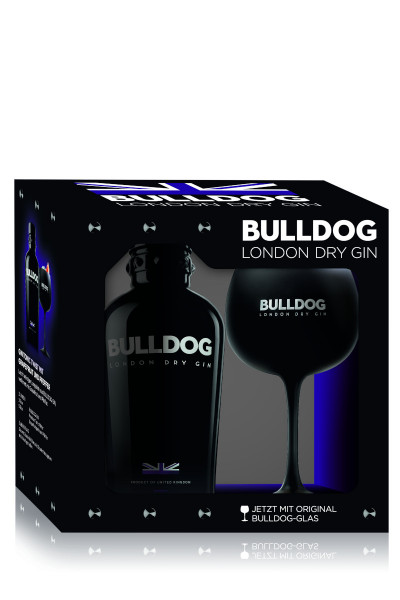 Bulldog London Dry Gin mit Copa Glas - 0,7L 40% vol