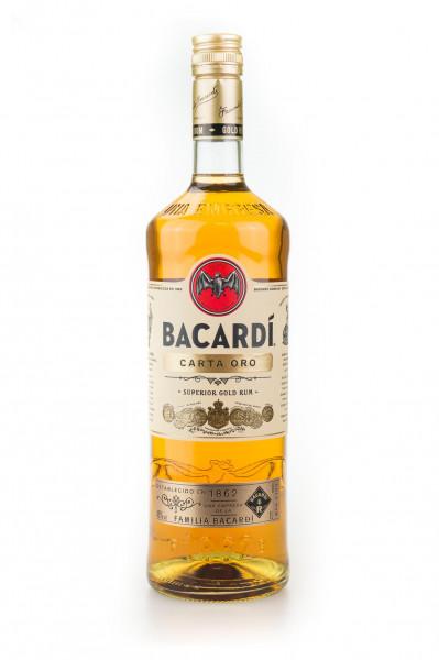Bacardi Carta Oro Superior Gold Rum - 1 Liter 37,5% vol