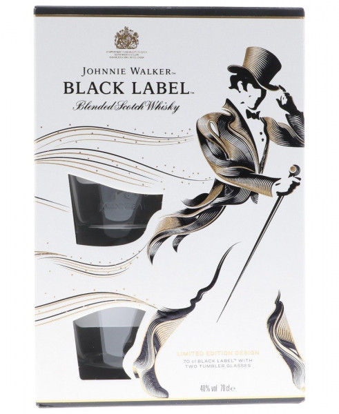 Johnnie Walker Black Label GEPA mit 2 Gläsern - 0,7L 40% vol