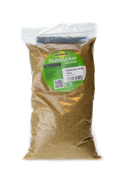 1,5kg Beutel - Sarkara brauner Rohrzucker grob