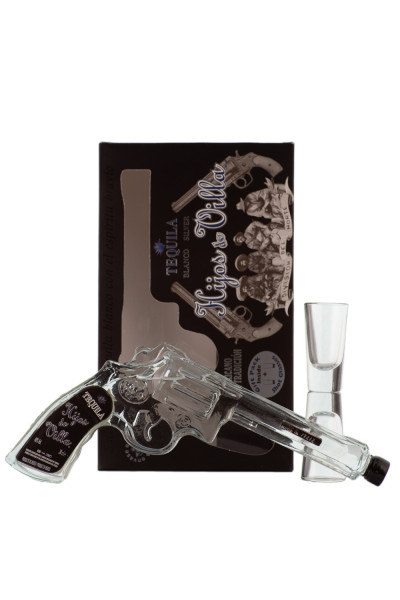 Hijos de Villa Tequila Blanco Revolverflasche - 0,2L 40% vol