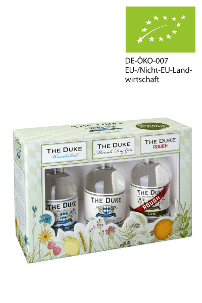 The Duke Gin 3er Miniatur-Set - 0,3L 44,67% vol