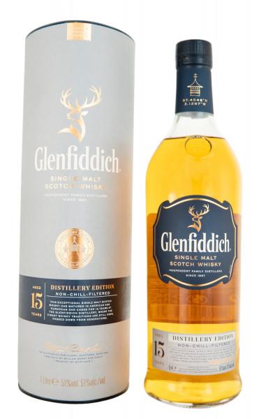 Glenfiddich 15 Jahre Distillery Edition in GEPA - 1 Liter 51% vol