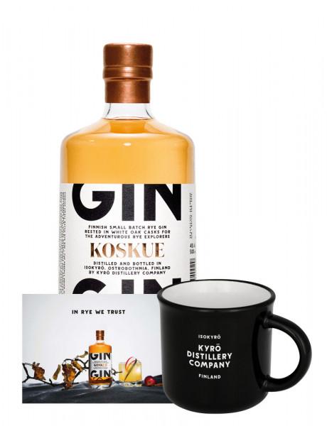 Set: Kyrö Koskue Barrel Aged Gin + Tasse + Perfect Serve Karte - 0,5L 46,3% vol