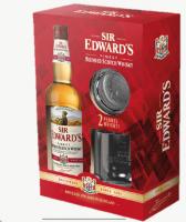 Sir Edwards Scotch Whisky GEPA mit 2 Gläsern - 0,7L 40% vol