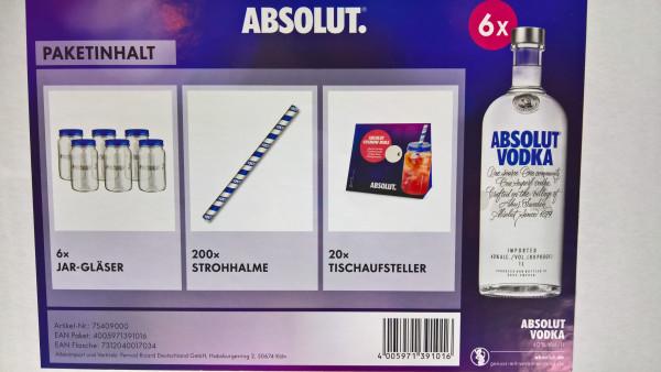 Absolut Vodka Gastro Paket - 6L 40% vol
