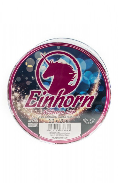 Einhorn Wildbeerenlikör - 0,02L 15% vol