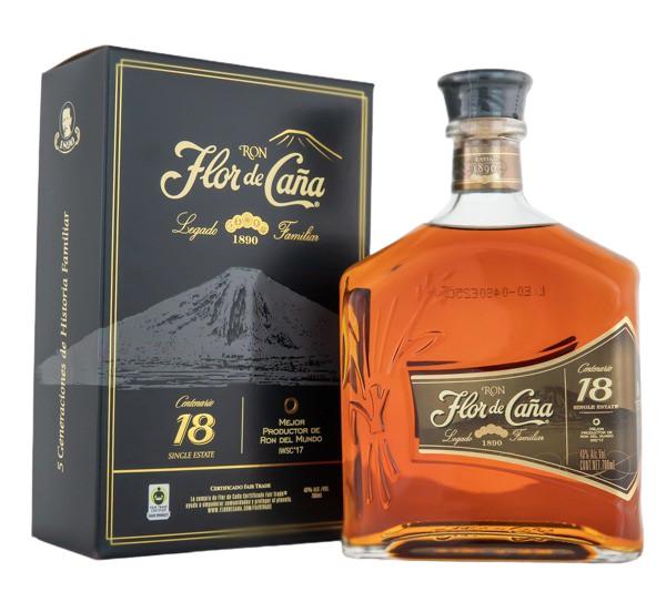 Flor de Cana Centenario Gold 18 Jahre Single Estate Rum - 0,7L 40% vol
