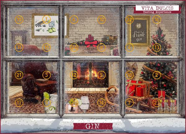 Gin Adventskalender Basis Version 2 - 0,48L 43,7% vol