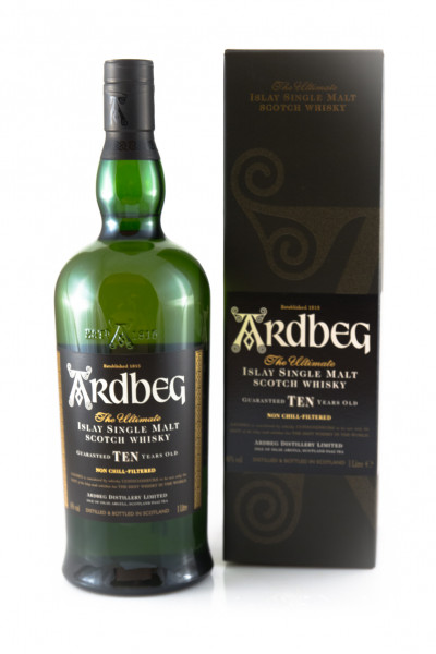 Ardbeg Ten Years Old Scotch Single Malt Whisky - 46% vol - (1 Liter)