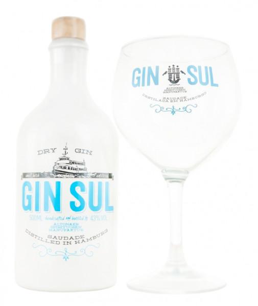 Gin Sul Dry Gin + Copa Glas - 0,5L 43% vol