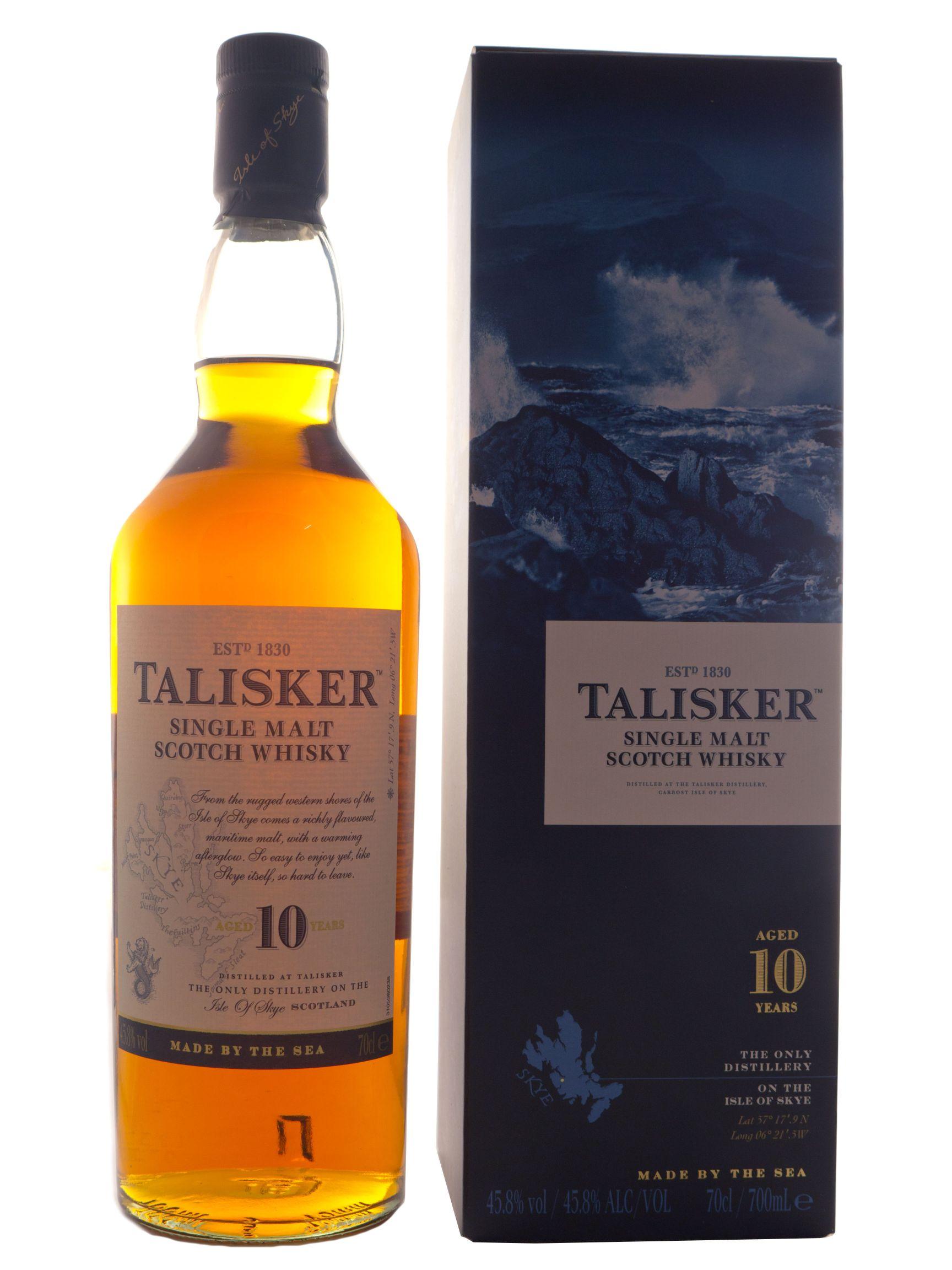 talisker 10 jahre single malt scotch whisky kaufen ab 30 99 eur im single malt scotch whisky. Black Bedroom Furniture Sets. Home Design Ideas