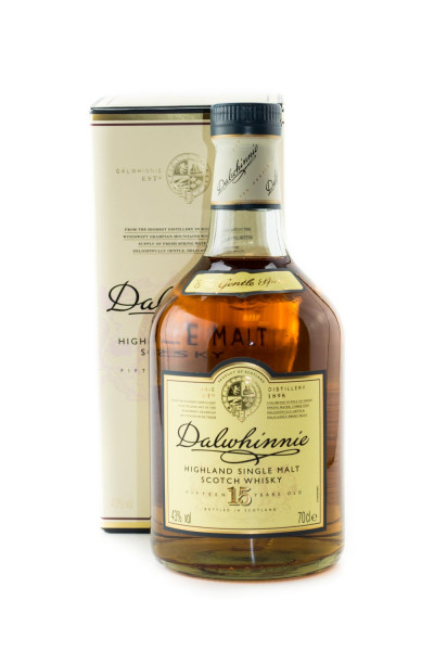 Dalwhinnie 15 Jahre Highland Single Malt Scotch Whisky - 0,7L 43% vol