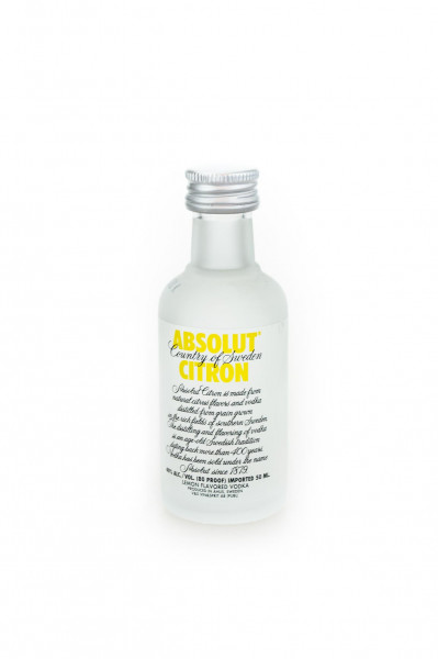 Absolut Citron Flavoured Vodka - 0,05L 40% vol