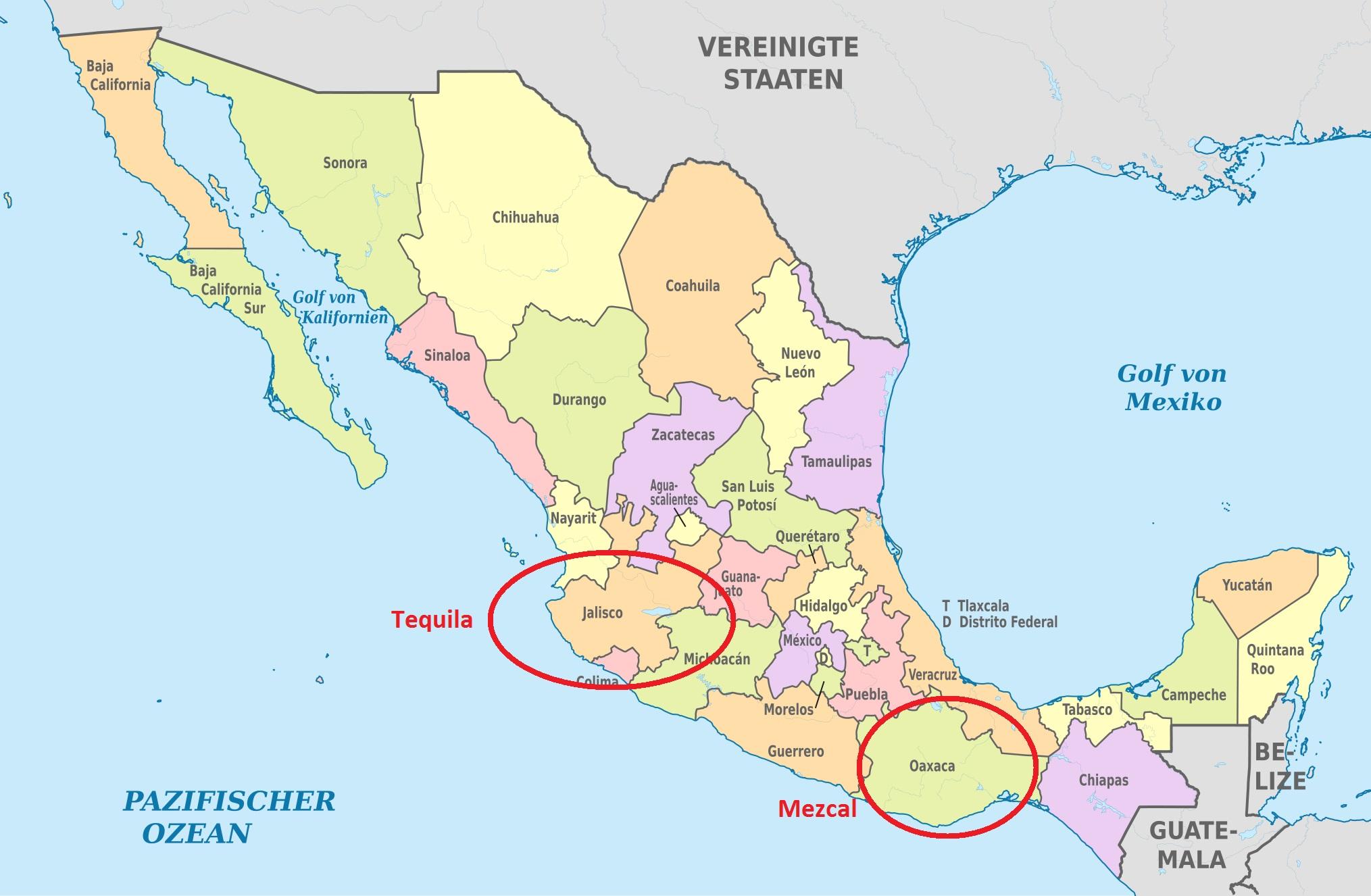 Herkunft Tequila und Mezcal