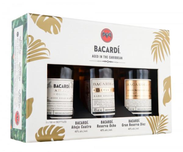 [3 x 0,1] Bacardi Premium Discovery Pack - 0,3L 40% vol