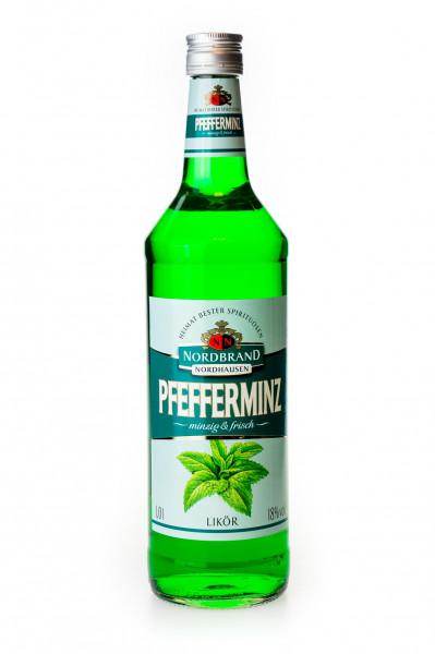 Nordbrand Pfeffi Pfefferminz-Likör - 1 Liter 18% vol