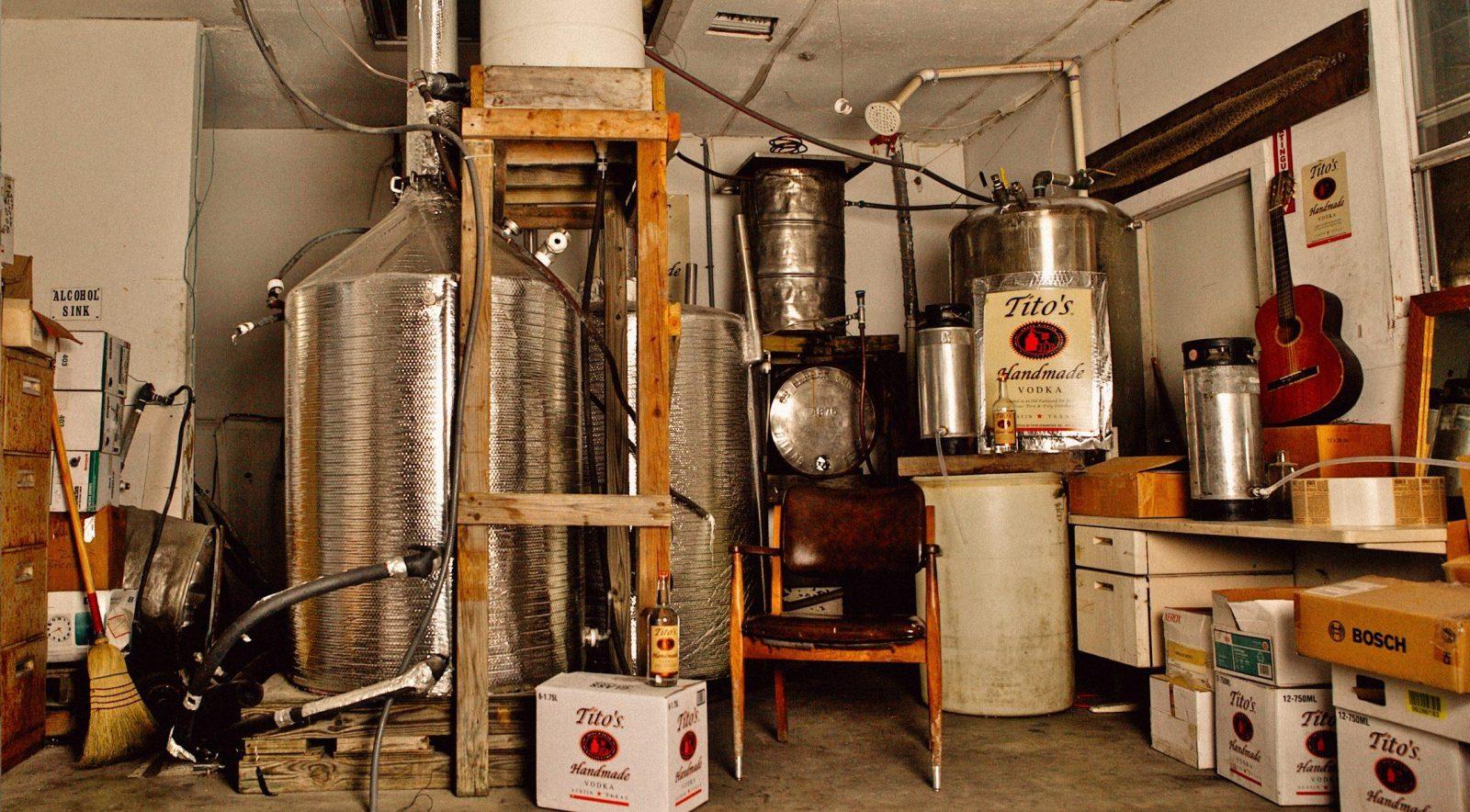 Die Titos Wodka Brennerei