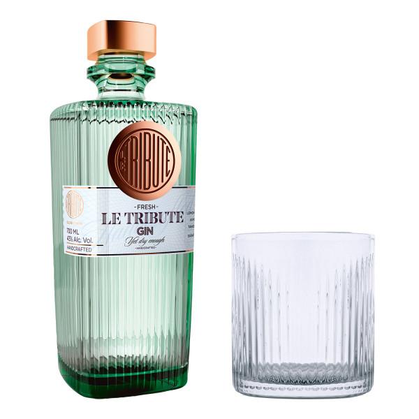 SET: Le Tribute Gin + Tumbler - 0,7L 43% vol